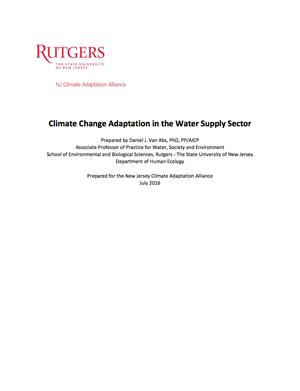Climate Change Adaptation in the Water Supply Sector