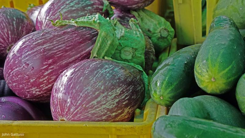 Fresh produce at the Hunterdon Land Trust Farmers Market in Flemington, NJ