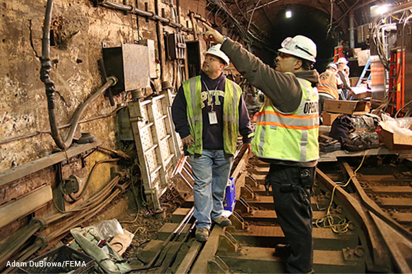Repairing PATH train tunnel after Sandy