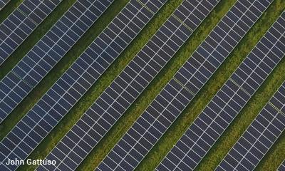 Solar array in Hunterdon County, NJ