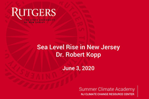Sea Level Rise in New Jersey