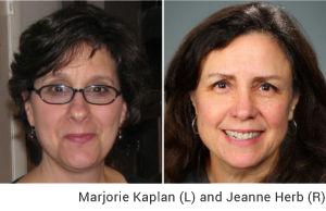 Marjorie Kaplan and Jeanne Herb