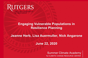 Summer Climate Academy: Engaging Vulnerable Populations