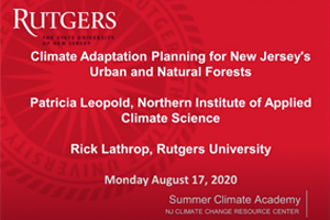 Climate Adaptation Planning for New Jersey's Urban and Natural Forests