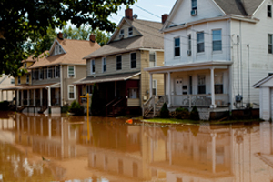 Flooding in Bound Brook after Hurricane Irene