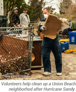 Union Beach volunteer helps clean up after Sandy