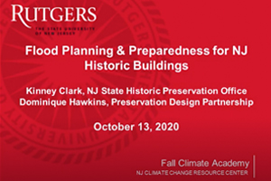 Flood Planning and Preparedness for Historic Buildings