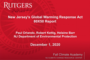 NJ Global Warming Response Act 80X50 Report