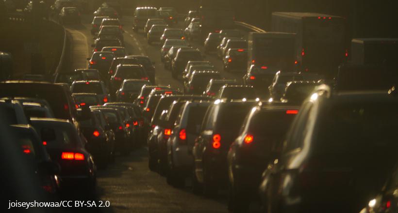 Traffic on New Jersey Turnpike