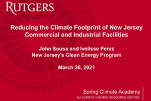 Reducing the Climate Footprint of New Jersey's Commercial and Industrial Facilities