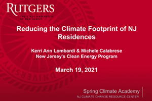 Reducing the Climate Footprint of New Jersey Residences