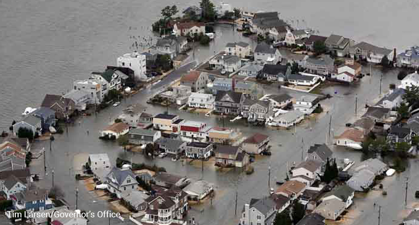 Hurricane damage, Seaside, NJ