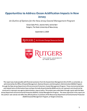 Opportunities to Address Ocean Acidification Impacts in New Jersey