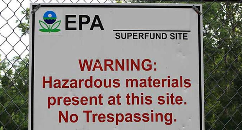 Superfund sign