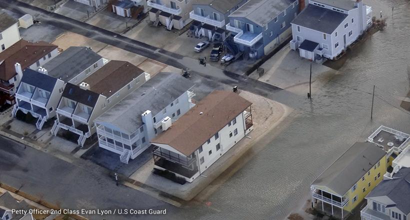 Flooded streets in Ocean City, NJ