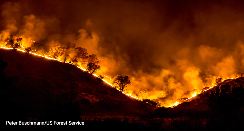 Wildfire, Woolsey Fire, California, 2018