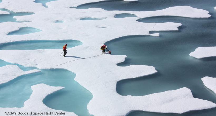 Alaska melt ponds-NASA-Goddard