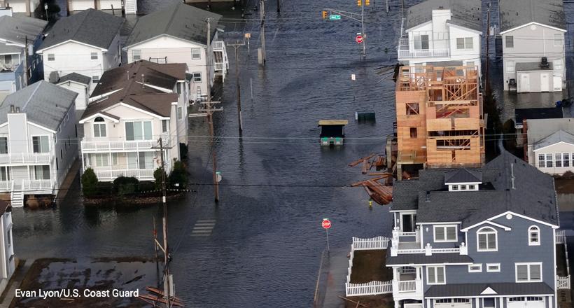 Ocean City NJ flood after 2013 winter storm