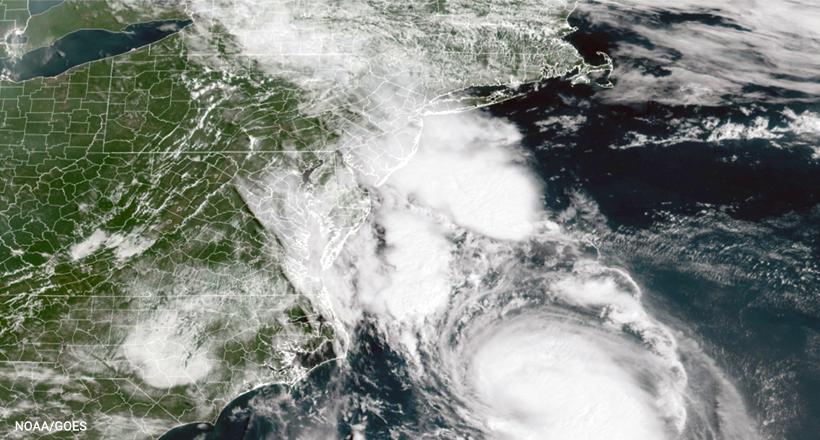 Tropical Storm Henri satellite Image-NOAA/GOES