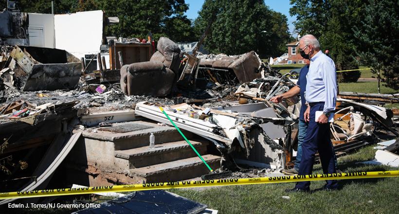 Biden, Murphy tour damage in Manville after Tropical Storm Ida