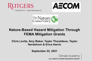 Climate Academy-Nature-Based Hazard Mitigation Through FEMA Mitigation Grants