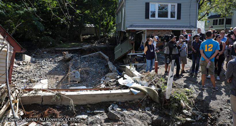 Flood damaged in Lambertville after Tropical Storm Ida