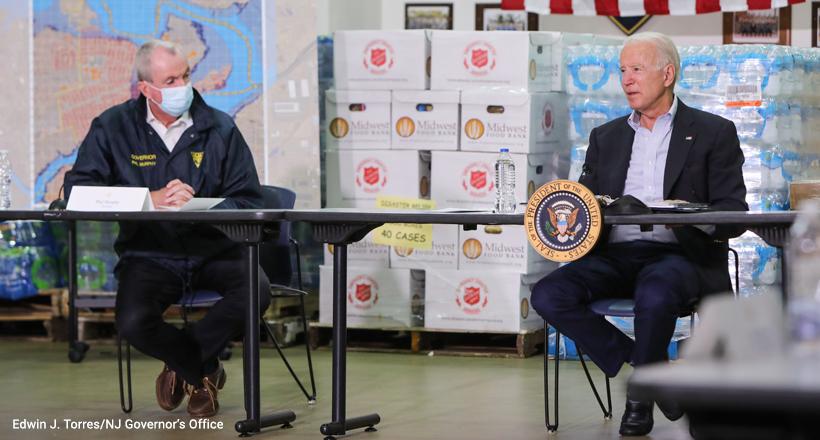 Murphy and Biden, Tropical Storm Ida press conference