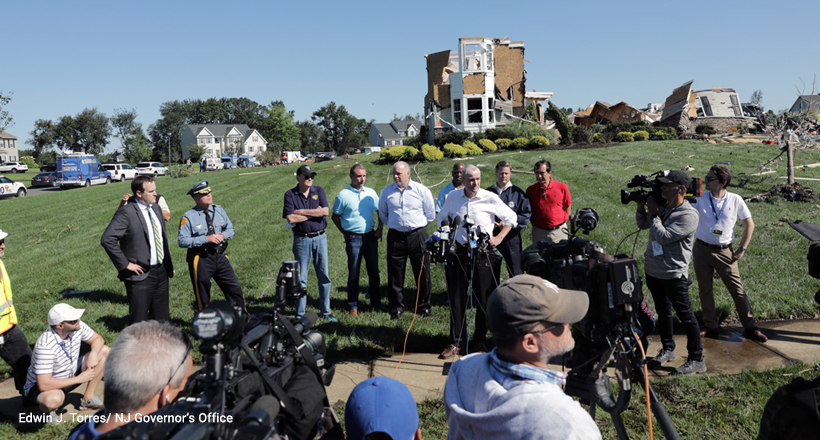 Gov Murphy surveys tornado damage in Mullica Hills, NJ, in aftermath of Ida
