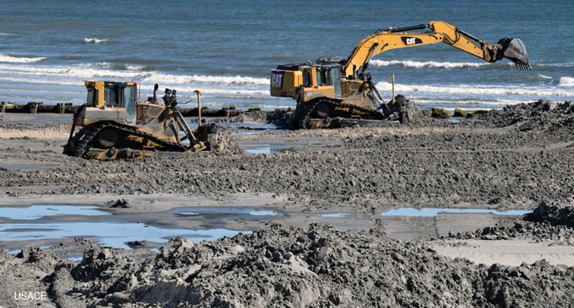 Beach replenishment, Cape May